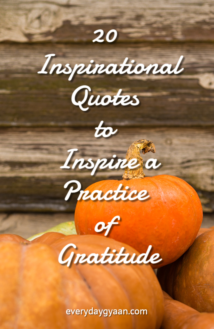 20 Inspirational Quotes to Inspire a Practice of Gratitude