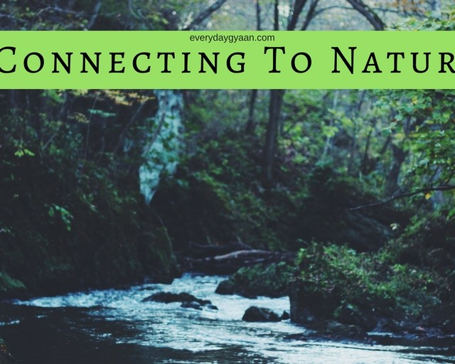 connecting to nature