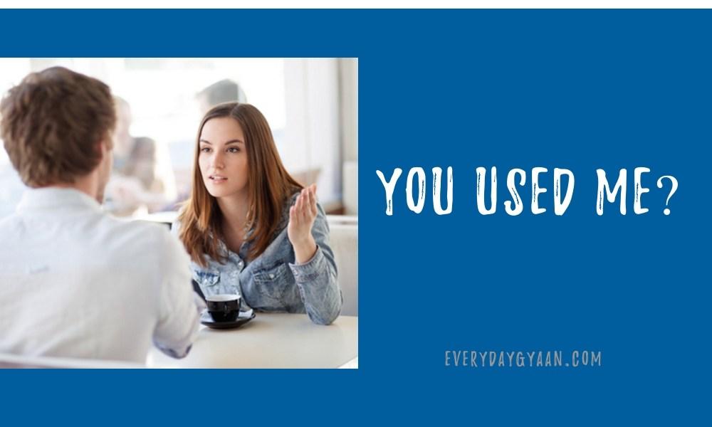 You Used Me #FridayReflections