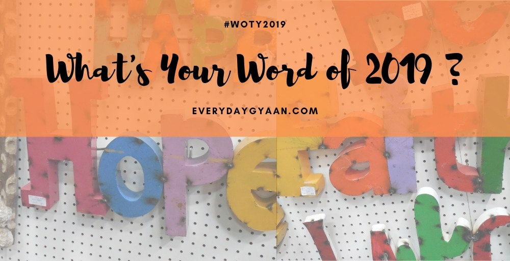 What's Your Word of 2019 ?#woty #woty2019