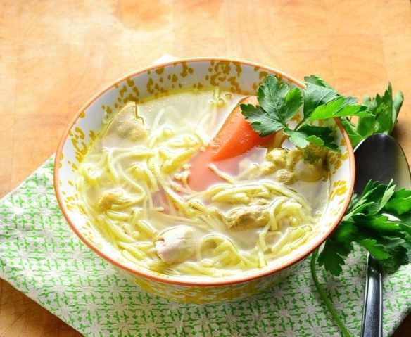 Simple Homemade Chicken Noodle Rosol Soup