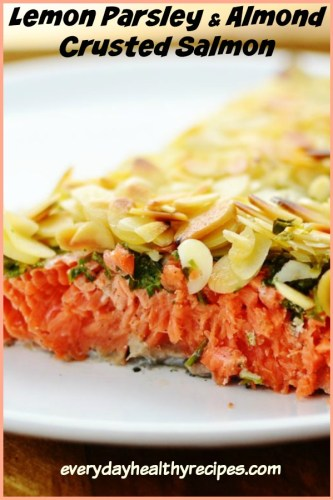 Easy Almond Crusted Salmon with Parsley