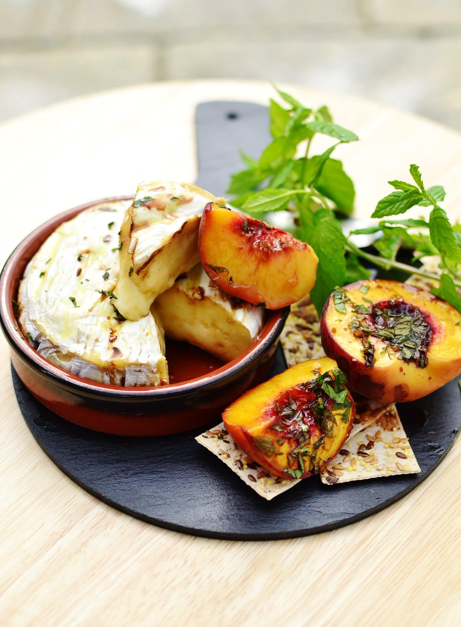 Baked Camembert With Honey And Peaches Everyday Healthy Recipes