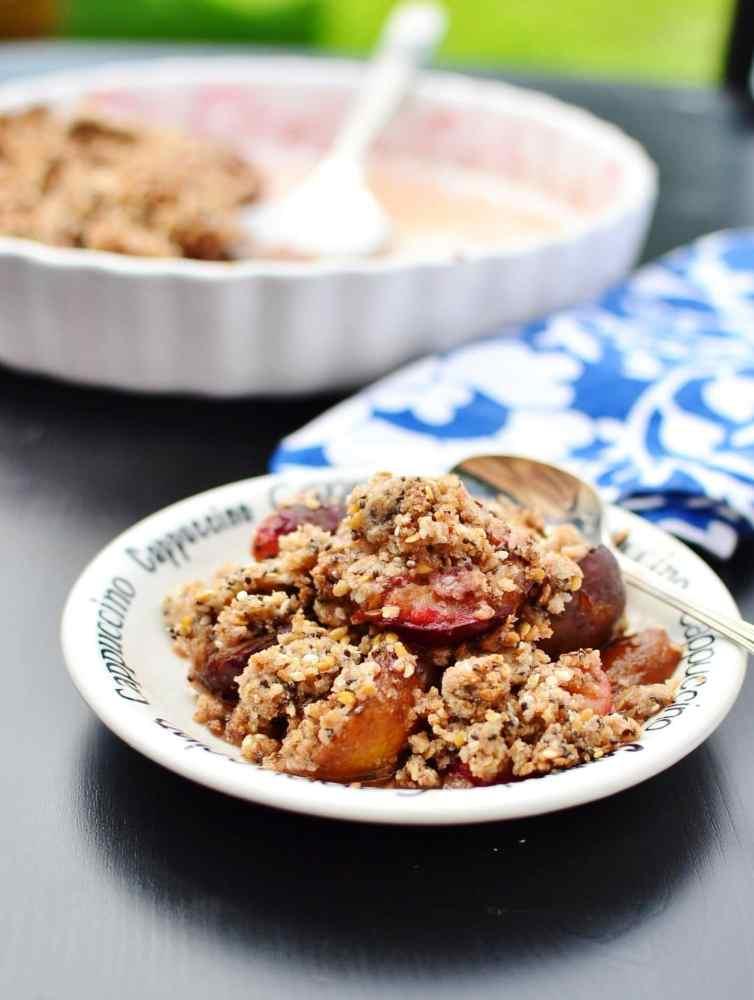 Vegan Plum Crisp Recipe