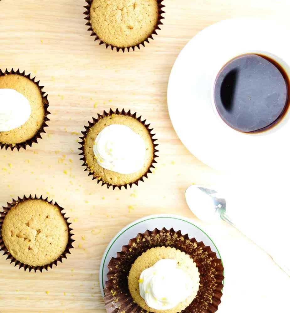Pumpkin Spice Cupcake Recipe with Lemon Frosting