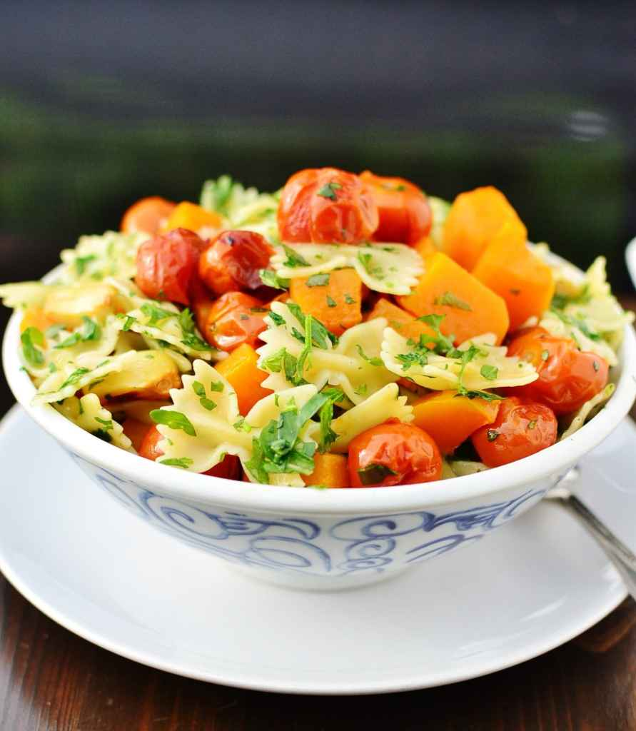 Butternut Squash Pasta with Rocket Leaves