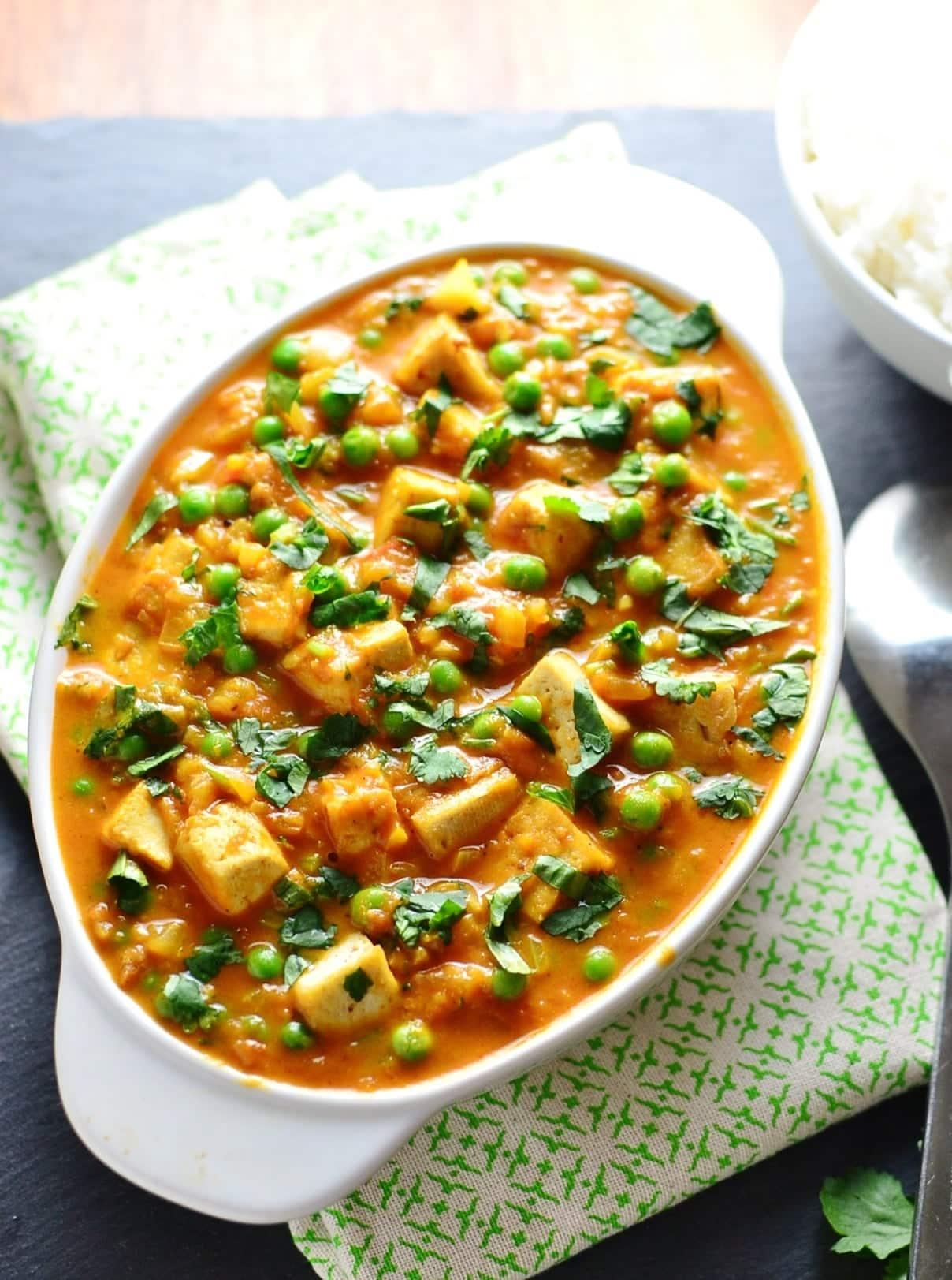 Petits Pois Tofu Curry