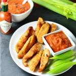 Smoky Chicken Fingers with Bloody Mary Dipping Sauce