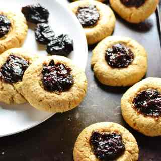 Peanut Butter Prune Thumbprint Cookies