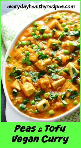 Vegan Curry with Tofu and Peas