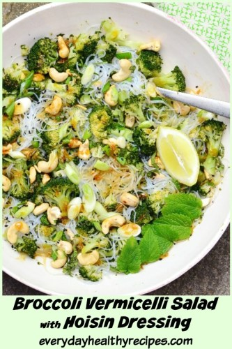 Asian Noodle Salad with Broccoli and Cashews