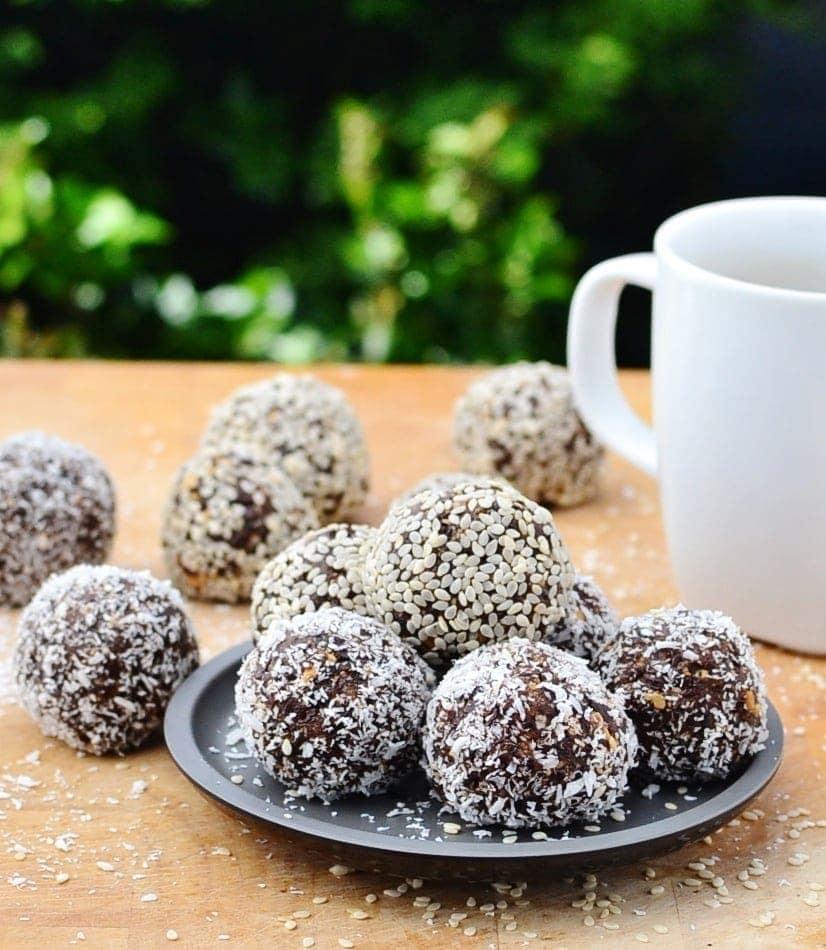Peanut Butter Chocolate Prune Energy Balls