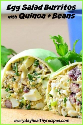 Healthy Egg Salad Breakfast Burrito with Quinoa