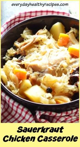 Easy Sauerkraut Casserole with Chicken