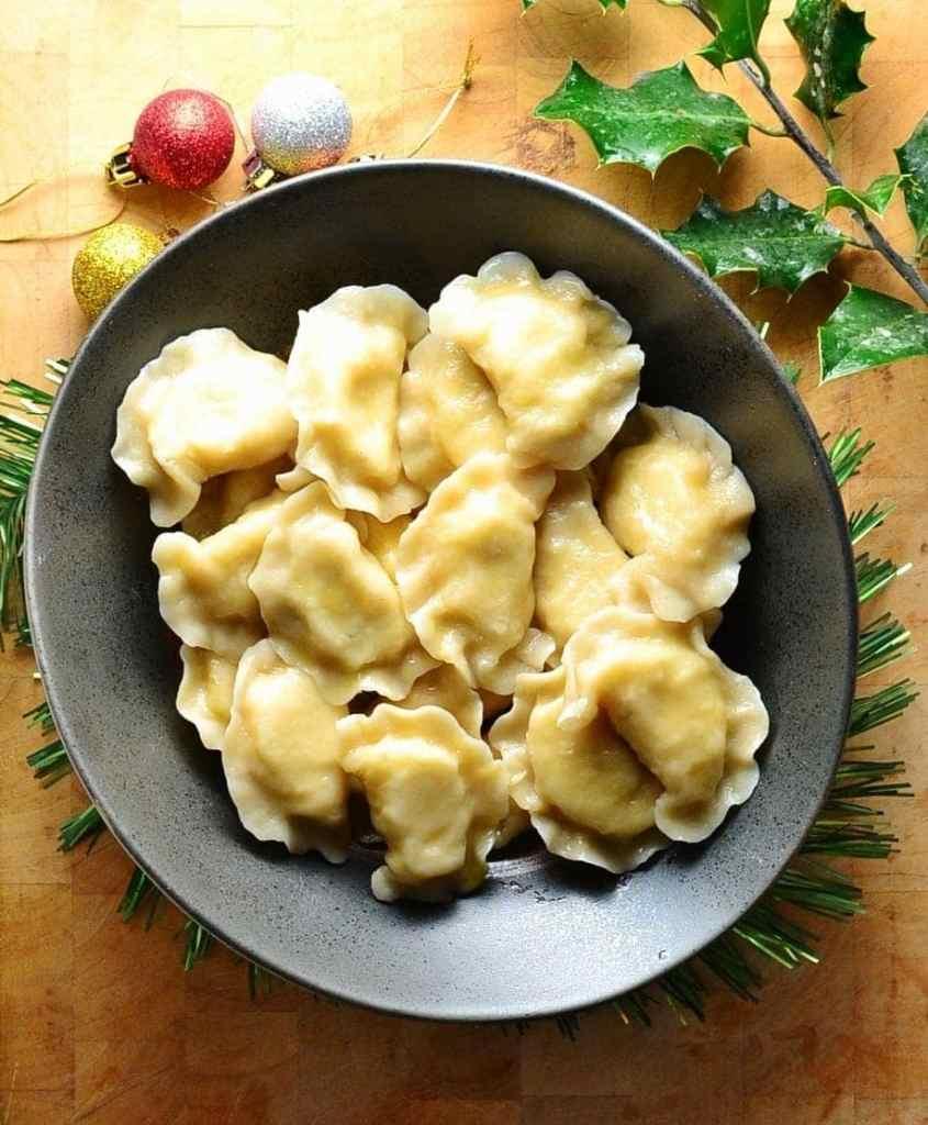 Polish Cheese and Potato Dumplings (Pierogi Ruskie)