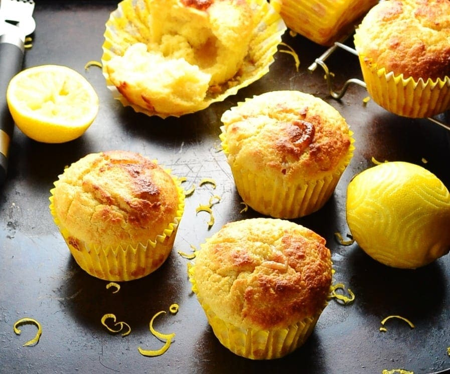 Easy Lemon Marzipan Muffins - Everyday Healthy Recipes