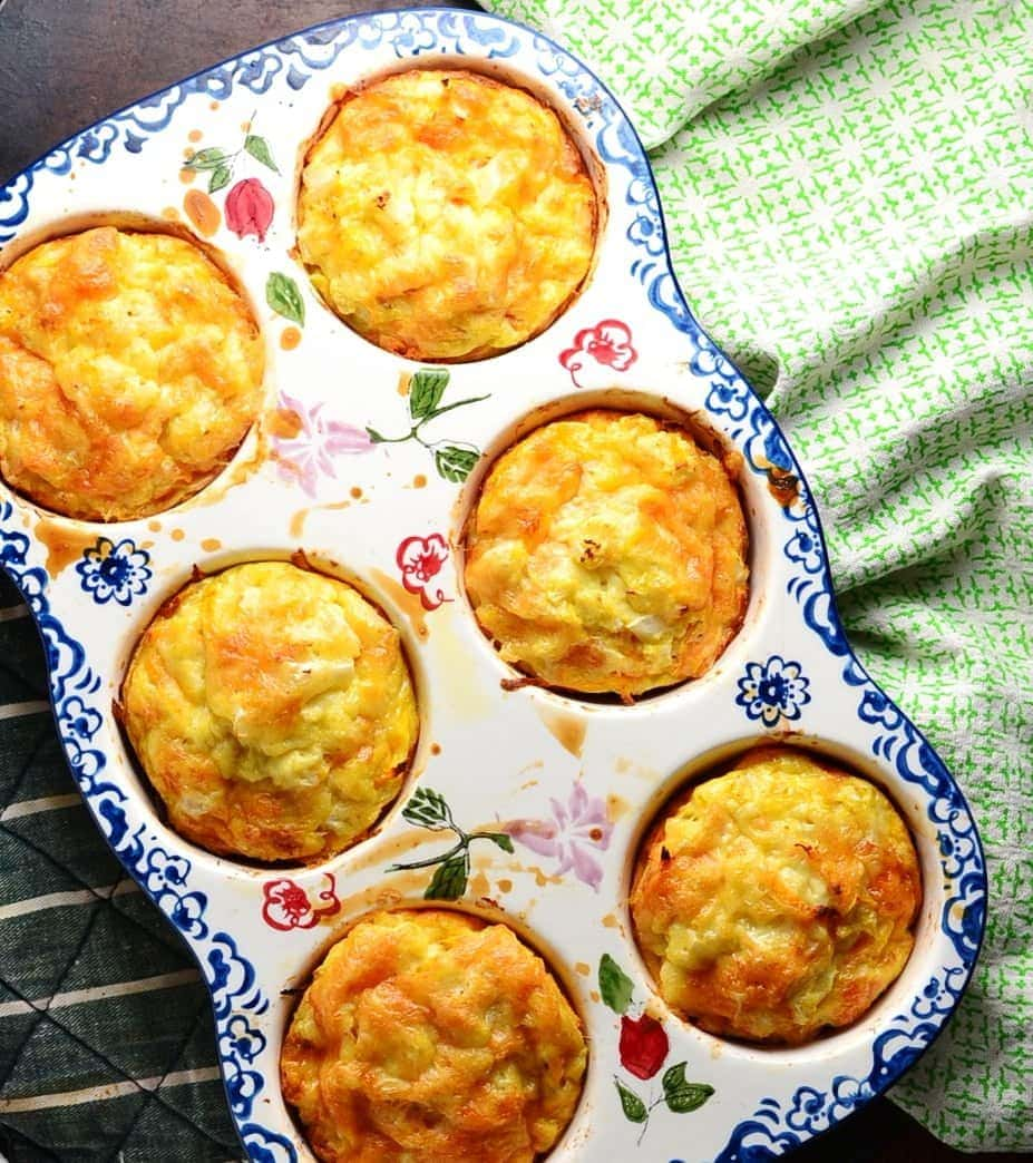 Cauliflower Sweet Potato Muffin Frittatas