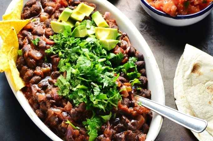 Mexican Black Bean Stew (Vegan)