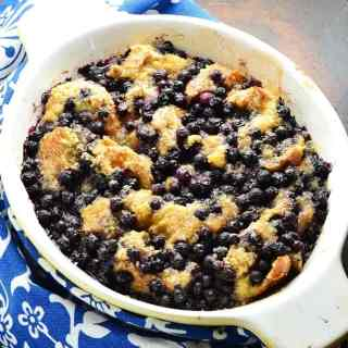 Low Sugar Blueberry French Toast Casserole