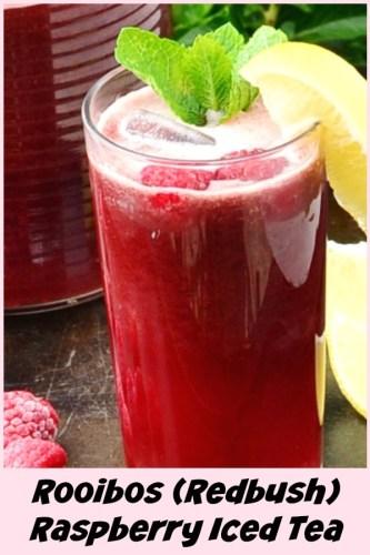 Rooibos (Redbush( Raspberry Iced Tea