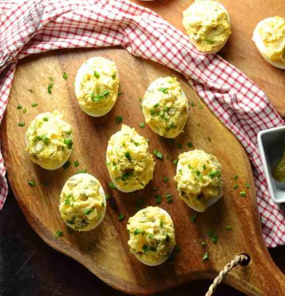 Potato Salad Healthy Devilled Eggs (No Mayo)
