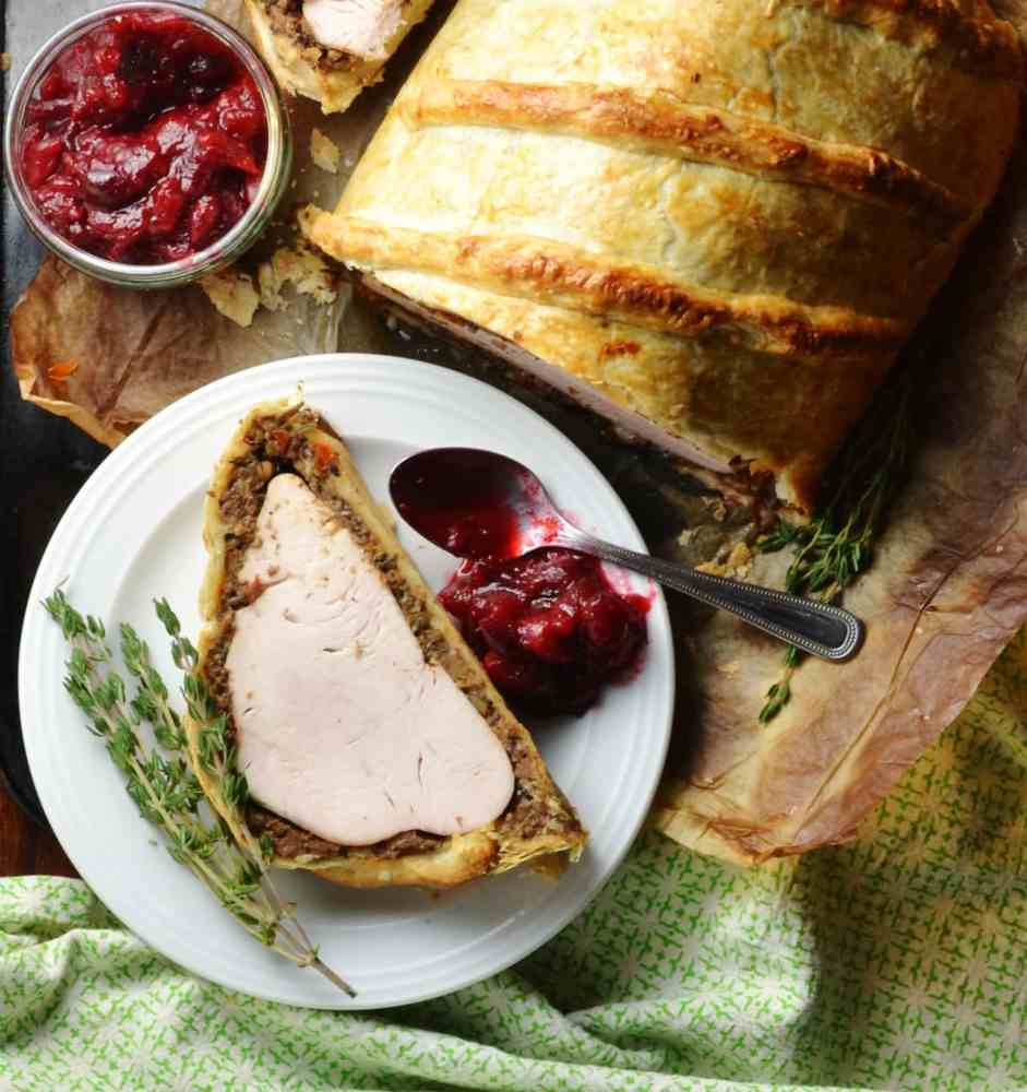 Easy Mushroom Turkey Wellington with Chestnuts