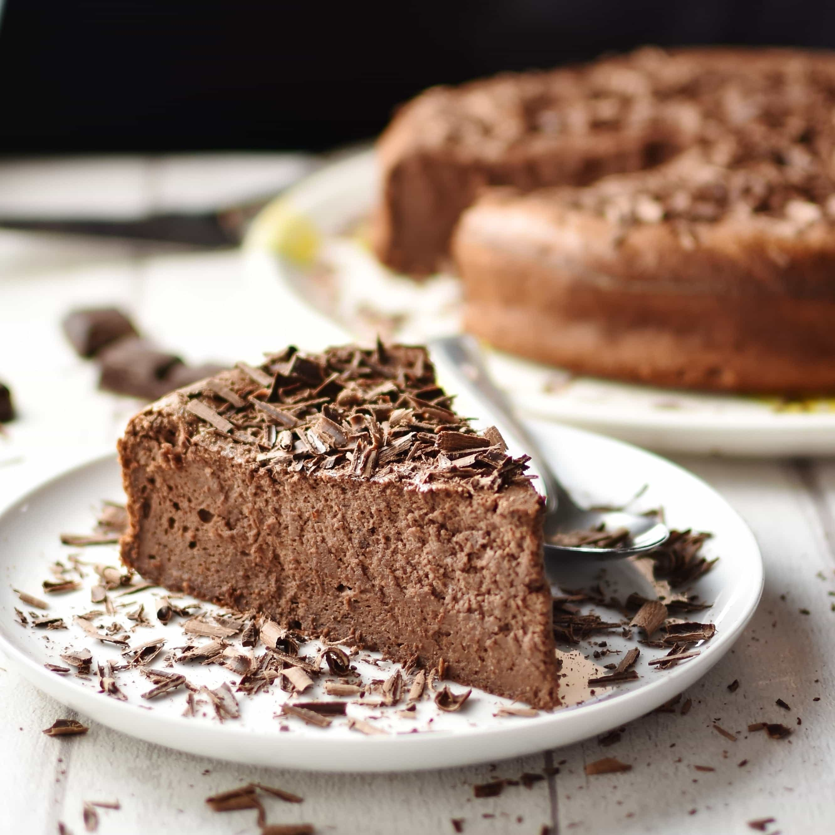 Chocolate Ricotta Cheesecake (Healthy, Baked)