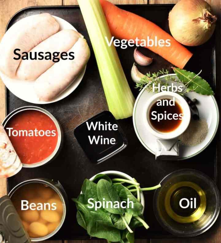 Sausage Bean Casserole Ingredients