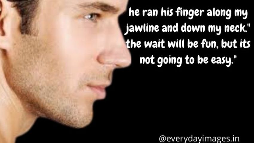 """He ran his finger along my jawline and down my neck."""" the wait will be fun, but its not going to be easy."""