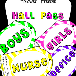 Hall Pass Follower Freebie