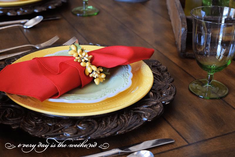 table decor l Birthday Celebration with Baked Potato Casserole