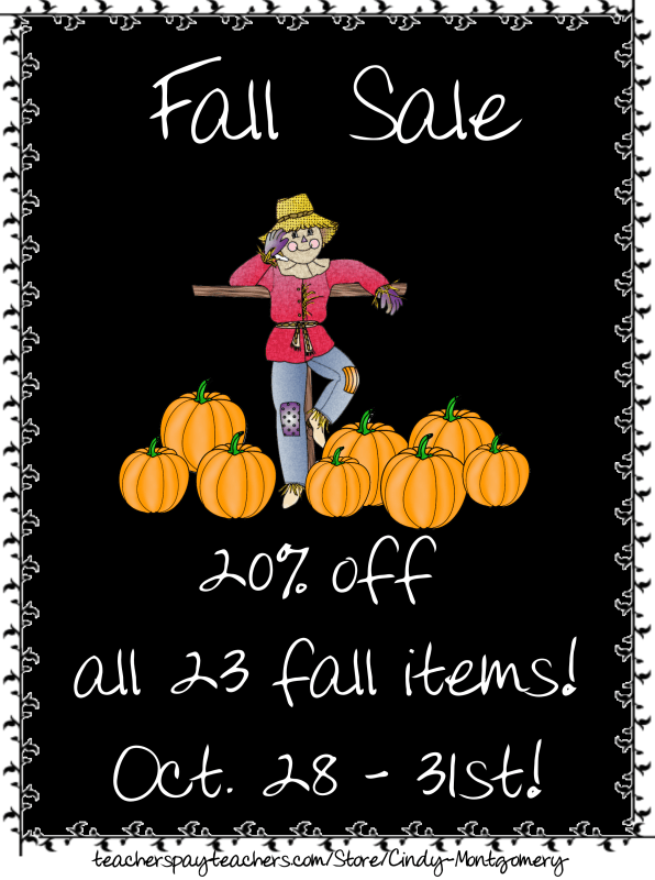 TpT 20% off Fall Sale