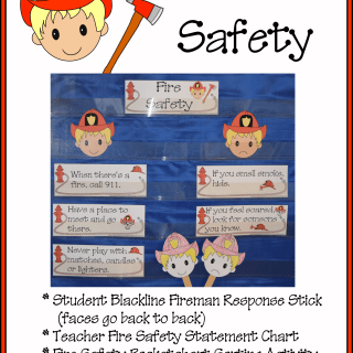 Fire Safety Student Response Stick and Pocketchart Sorting Activity