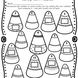 Candy Corn Puzzles Free Activity Page