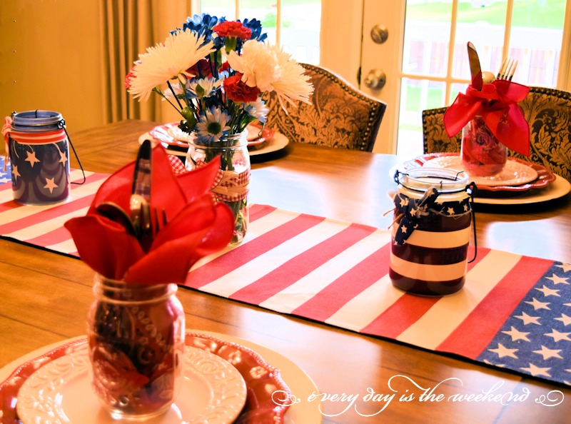 Bunco 2017 July 4th BBQ table