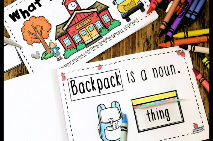 What is a Noun? interactive emergent reader