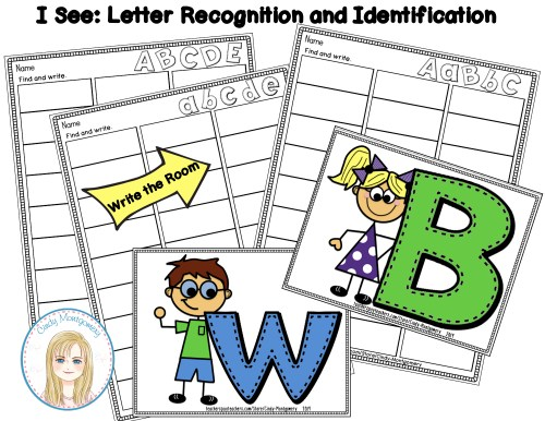 I See Letters: Alphabet Letters Recognition and Identification Write the Room activity