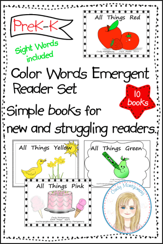 Color Words Emergent Readers