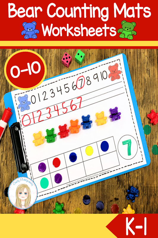 Bear Counting Mats and Counting Activities