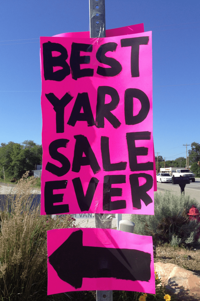 Best Yard Sale Ever everyday jenny.com