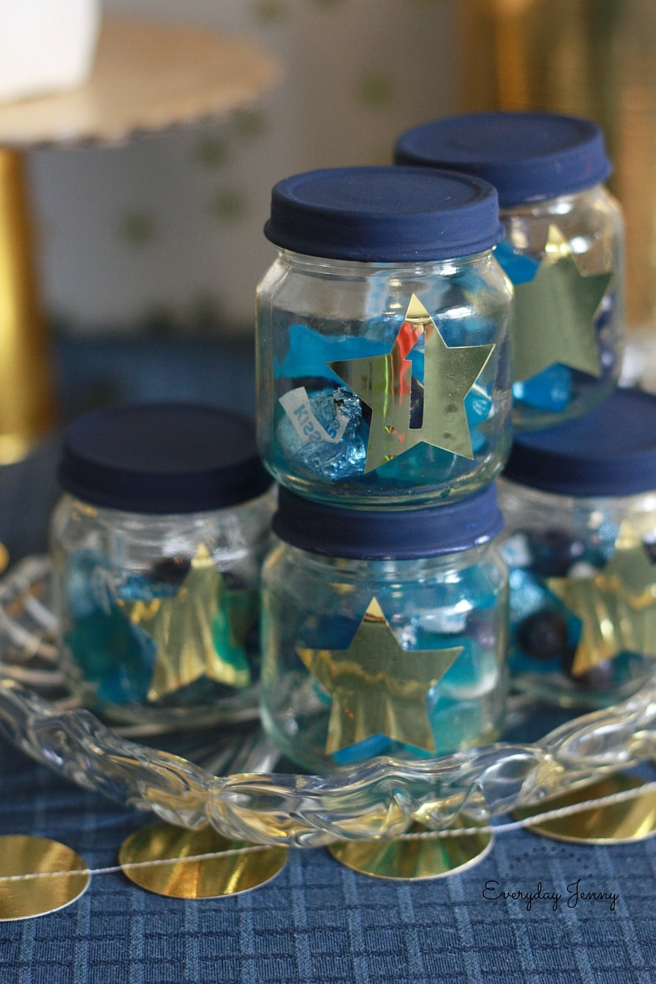 Navy and Gold Twinkle Twinkle Little Star Treat Jars