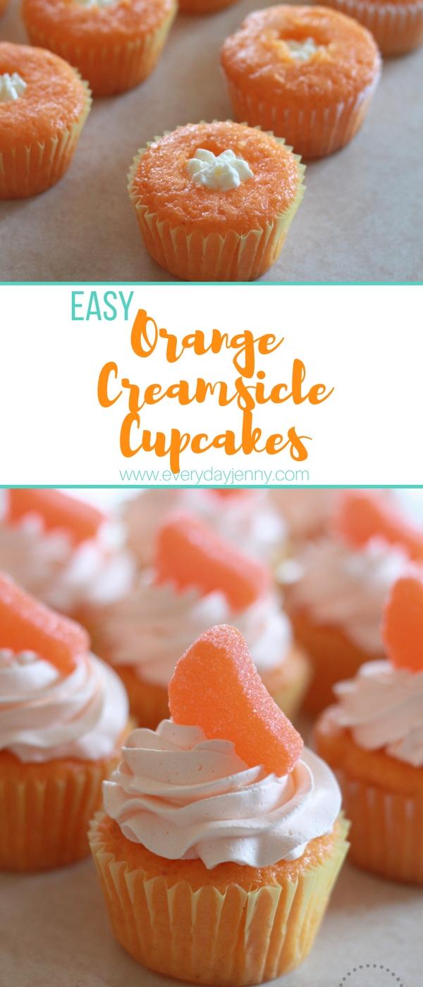 Orange Soda Creamsicle Cupcakes Everyday Jenny