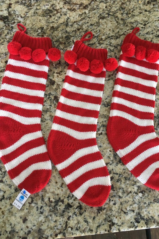 Deseret Industries finds, Christmas stockings