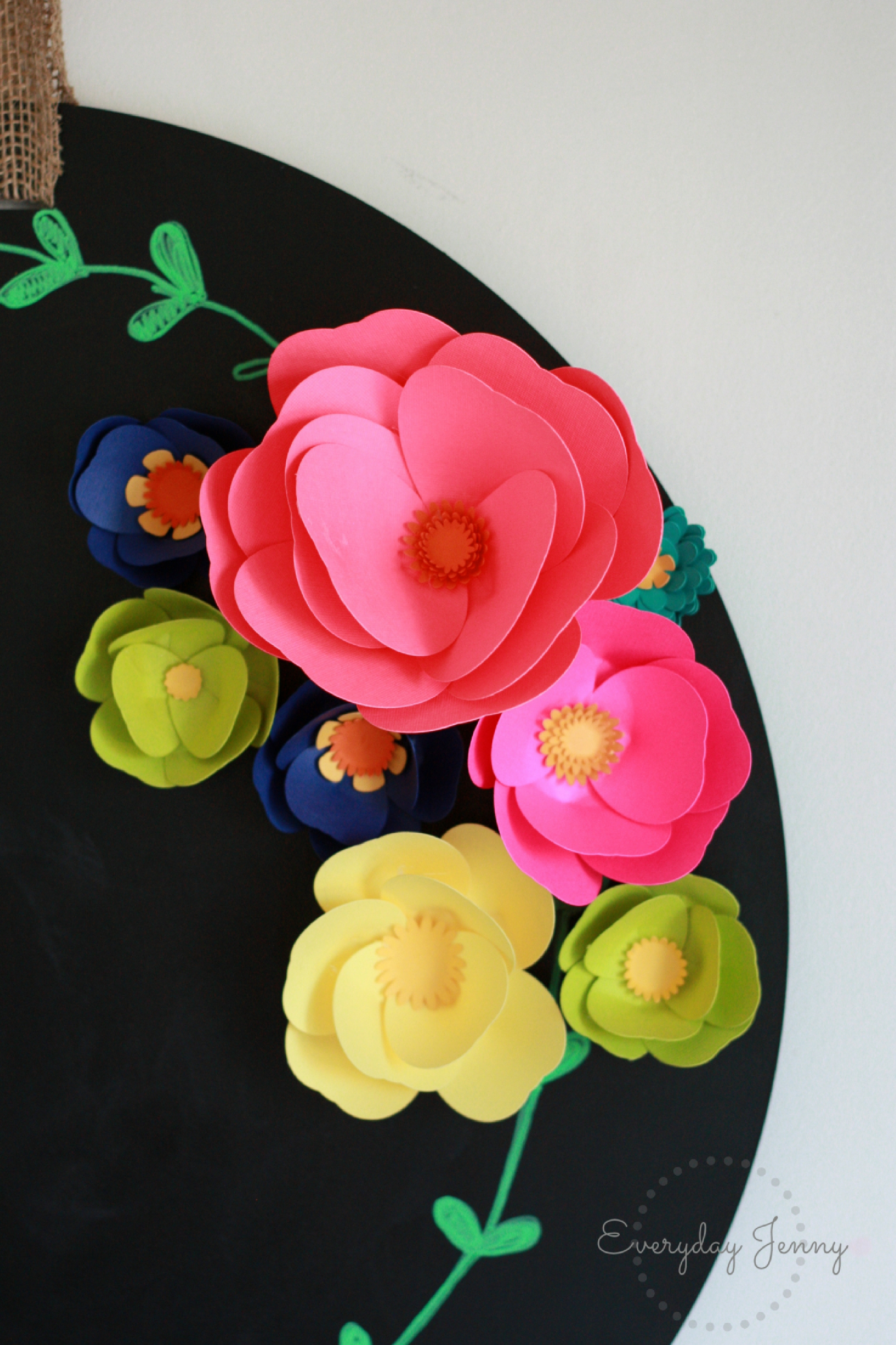 3d paper flower magnets with cricut | everyday jenny