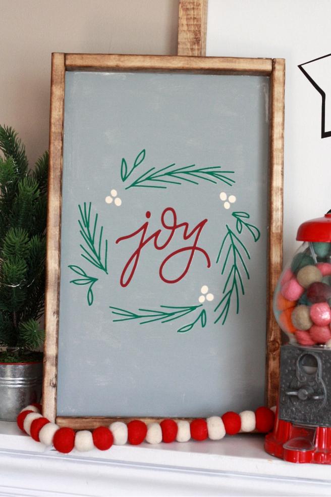 Diy Farmhouse Wood Christmas Signs With Cricut Everyday Jenny