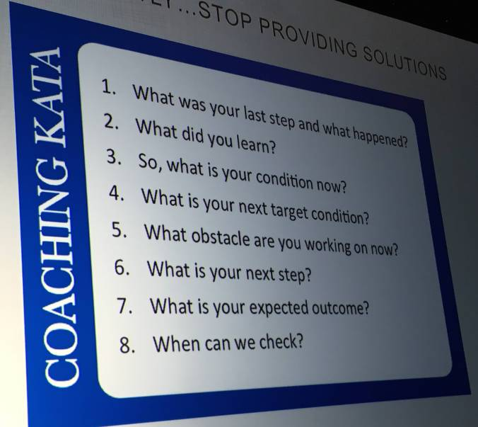 Nordstrom shared their customized coaching kata for problem solving
