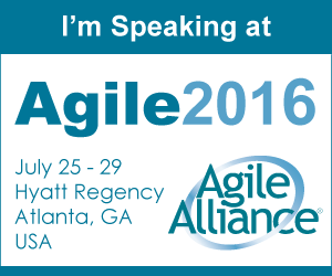I'm speaking at Agile2016