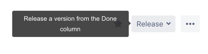 Release button on Jira board