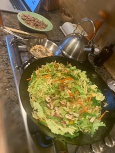 hand-hammered wok