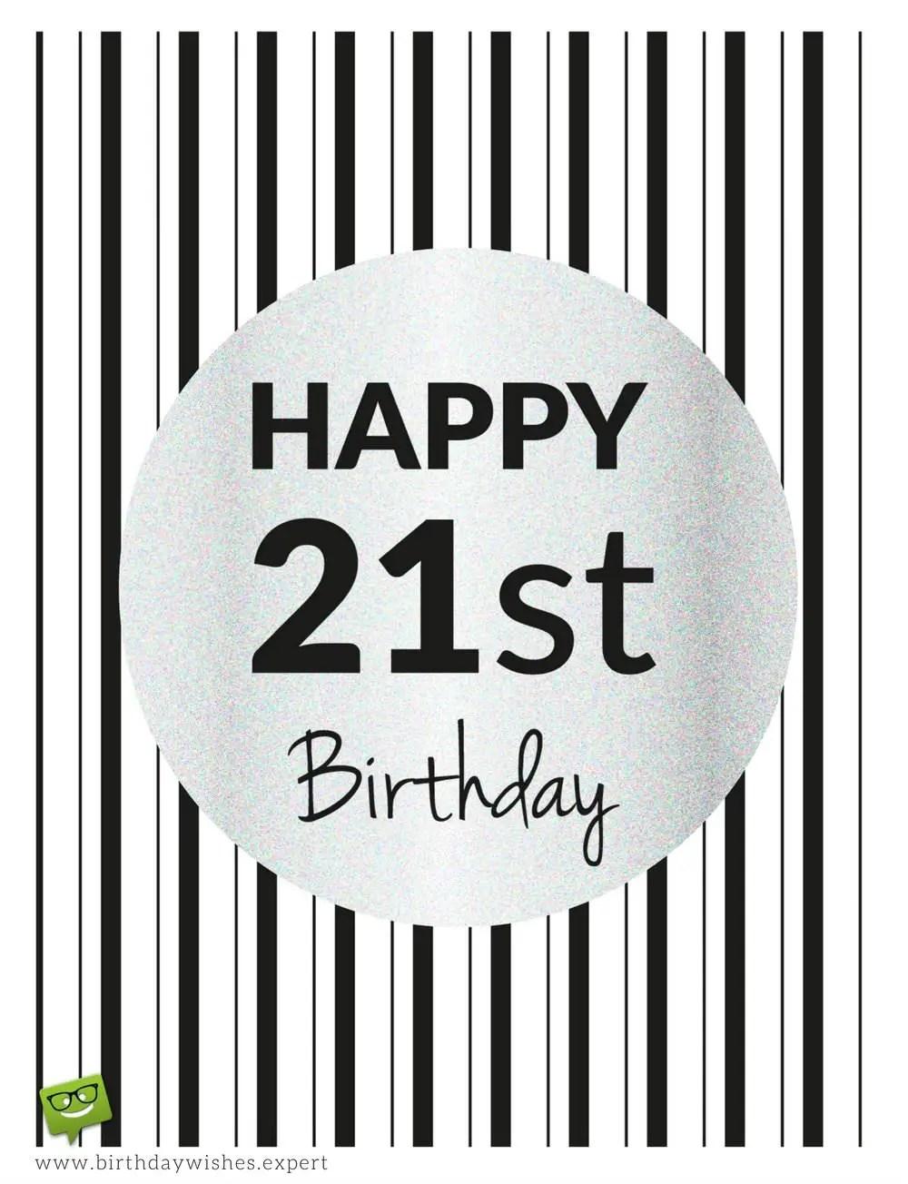 21st Birthday Card Message Daughter